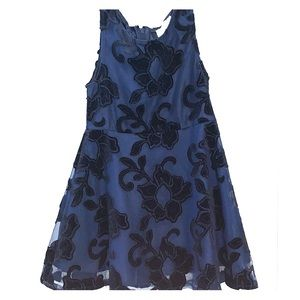 Navy Blue and Black Children's Place Holiday Dress